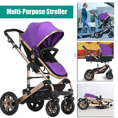 New 8 in1 Baby Stroller Newborn Pram Travel System Jogger Foding Kids Pushchair