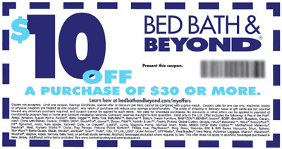 Bed Bath Beyond 10 Off 30 Coupon In Store Or Online Exp 8 27 2018
