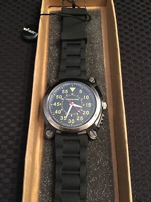 Infantry Men's Analog Black Rubber Band Watch