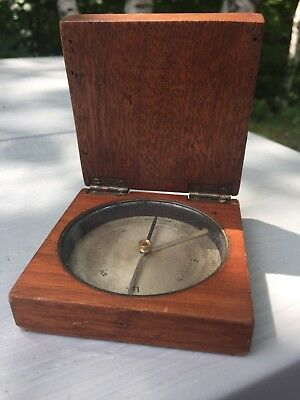 Antique Vintage Nautical Mahogany Case Magnetic Compass 18th Century