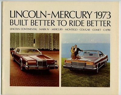 Automobile advertising brochure/booklet, Lincoln-Mercury 1973, 31 pages, m27309
