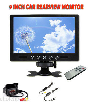 "Wireless Rearview Backup Camera Night Vision System+ 9"" Monitor for RV Truck Bus"