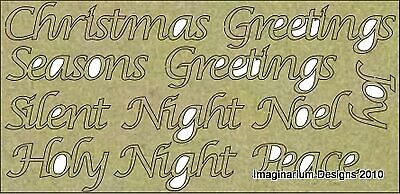 Imaginarium Designs, Chipboard Words, Christmas Words, 11 Pieces, each 1.5cm ...