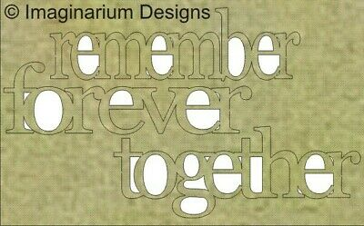 Imaginarium Designs, Chipboard Words, remember forever together (lower case),...