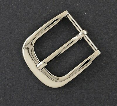 "Prong pin 1 1/4""(30mm) belt buckle (5258A) excellent nickel color finish."