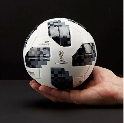 New Adidas World Cup 2018 Russia Telstar 18 Silver Soccer Size 1 Mini CE8139