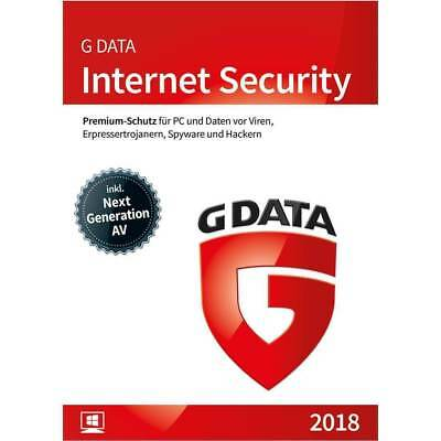 G DATA Internet Security 2018 1 Windows PC für 1 JAHR Vollversion SOFORT E-Mail