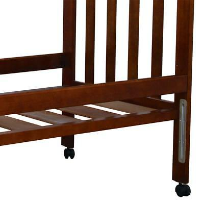 NEW Accessory Bed Rail for Childcare Cot - Conversion to Bed -Timber Walnut Tone