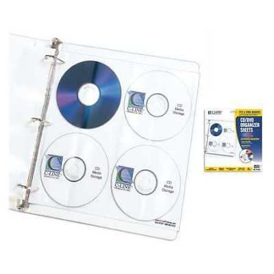 CD Ring Binder Pages,8 CDs,PK25 C-LINE PRODUCTS 61948BNDL5PK
