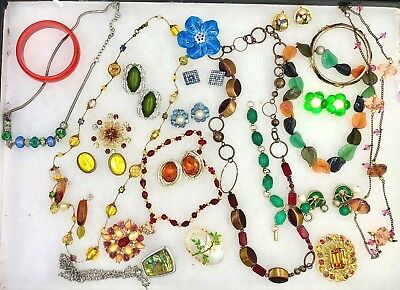 Various Vintage Costume Jewelry Estate Lot of 24 Items - Pristine