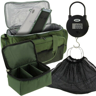NGT Coarse Carp Fishing Insulated Carryall + Digital Scale + Sling & Lead Bag