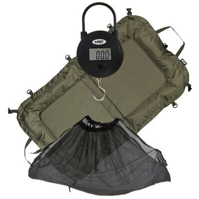 NGT Coarse Carp Fishing Beanie Unhooking Mat + Digital Weight Scale & Mesh Sling