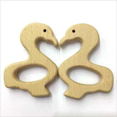 DIY 1pcs Wooden Teether Cloud shape wood color Safety Baby Molar Stick Toy