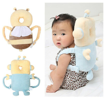 Baby Infant Walking Head Neck Back Protector Pillow Wings Cushion Soft Pad AU
