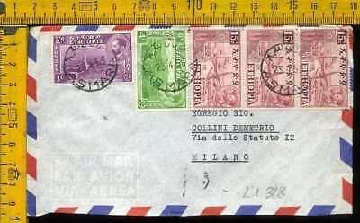 Africa Etiopia Ethiopie air cover to Italy li 318