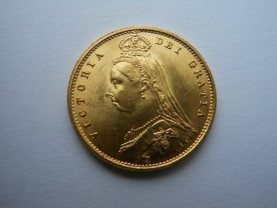 Near Uncirculated 1887 Gold Half Sovereign Superb London