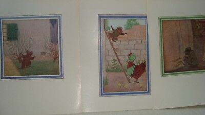 3 Vintage Little Grey Rabbit Illustrations - Colour Book Plates Rat