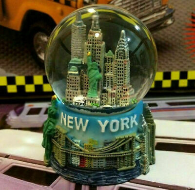 New York City apple Snow Globe 2.5 Inch (45mm) Skylines & Statue of liberty w203
