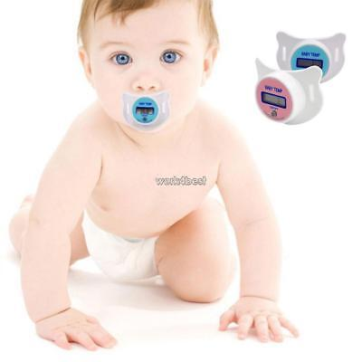 New Practical Baby Kid LCD Digital Mouth Nipple Pacifier Thermometer WST 02