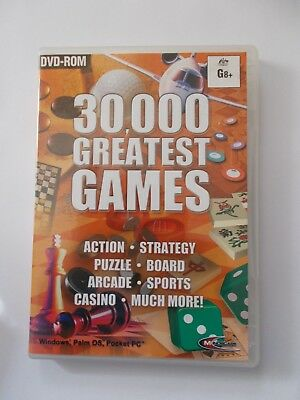 - 30,000 Greatest Games [Pc Dvd-Rom] [Brand New] Aussie Seller [Now $39.75]