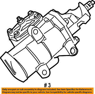Chrysler Oem Steering Gear Gear Assy 68093002ab