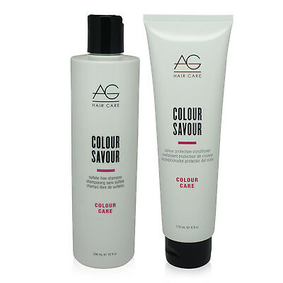 AG Hair Colour Savour Shampoo 10 Oz & Conditioner 6 Oz Combo Pack