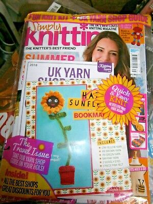 Simply Knitting Magazine Issue 175 With Free Gift (new) 2018