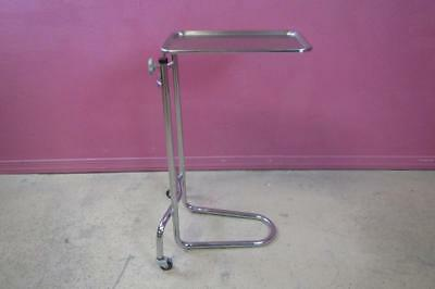 Brewer Stainless Steel Mayo Procedure Stand Instrument Adjustable Cart Tray