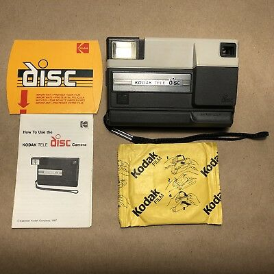 Kodak Tele Disc Camera With Film And Manual. Vintage In Great Shape