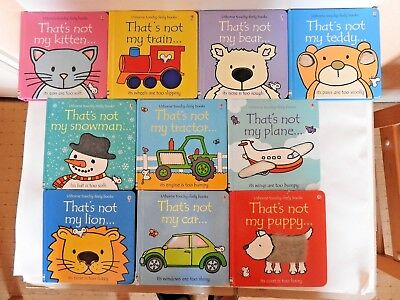 """10 Usborne Touchy -Feely books """"That's not my...."""""""