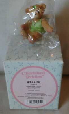 2001 Priscilla Hillman Cherished Teddies AUGUST ANGEL ON CLOUD #824496 NIB