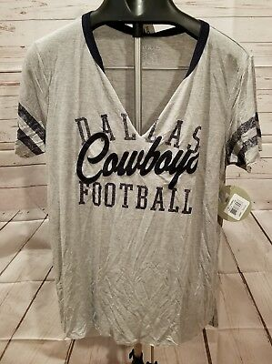 680dd6476 Dallas Cowboys Large Womens Shirt Ladies Her Style Heather Nfl Football New  Gray