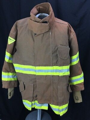 Loin Appeal Brown Firefighter Turnout Coat Jacket W/ Bunker Model Cmdm-00