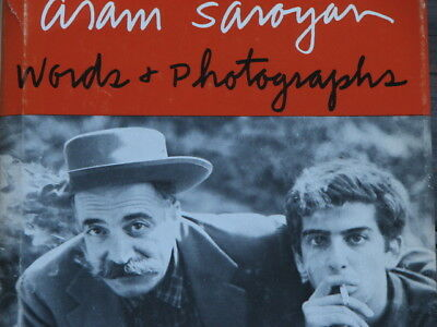 Words and Photographs by Aram Saroyan Hardcover Book 1970 First Edition
