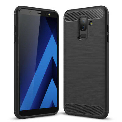 Carbon Handy Hülle f Samsung Galaxy A6 2018 A600 Outdoor Case Panzer Cover Etui
