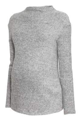 H&M MAMA fine knit maternity sweater in oatmeal S