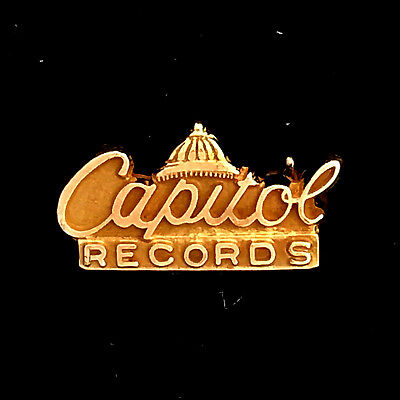 NEW PRICE! Vintage Capitol Records 10K Yellow Gold Employee Service Award Pin