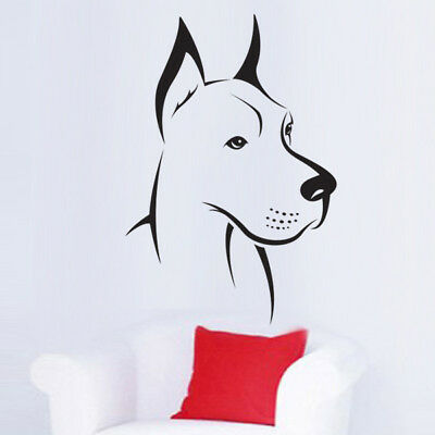 Sticker Animal Chien Great Dane Dogue allemand (15x10 cm à 40x27 cm) (CHIEN020)