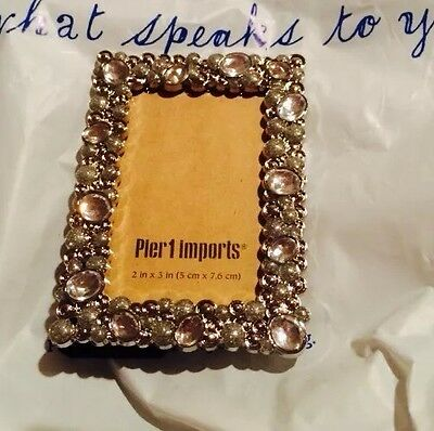 New Pier 1 Imports Crystal Photo Picture Frame Decor 2inchx3inch