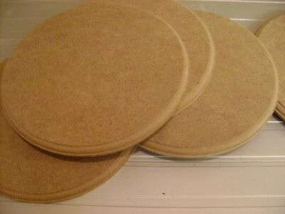 "Wooden MDF Circles Round craft plaques plinth 9mm thick 4""  6""  8"" TROPHY STANDS"