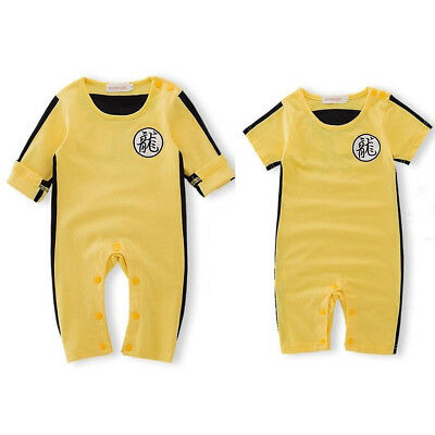 Kids Toddler Baby Boys Bruce Lee KungFu Romper Jumpsuit Costume Outfits Clothes