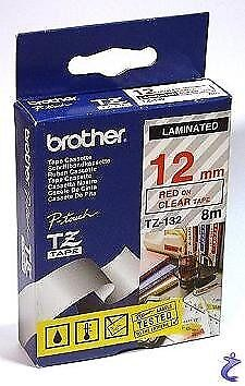 Brother TZe-335 Laminated 12mm x 8m - White printing on Black Tape
