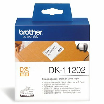 Brother DK11202 White Label - 62mm x 100mm - 300 per roll