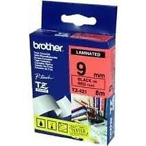 Brother TZe-721 Laminated 9mm x 8m -  Black printing on Green Tape