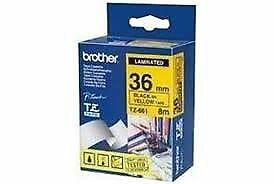 Brother TZe661 Labelling Tape - 36mm x 8 meters - Black on Yellow