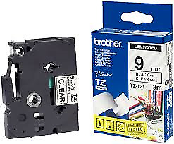 Brother 9mm Black on Blue Labelling Tape - 8 meters