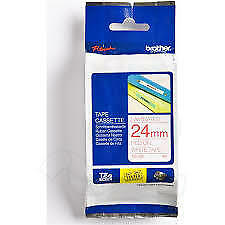 Brother 24mm X 8 Metre Labelling Tape, Red on White Tape
