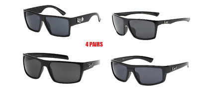 1b7adfe7ee Locs Sunglasses Lot 4 Pairs Best Sellers Gangster Style Free Shipping In  The Usa