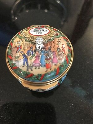 Halcyon Days Christmas 1997 Painted Enamel Box