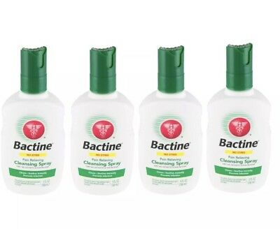 (4 Pack) Bactine No Sting Pain Relieving Cleansing Spray 5OZ Exp 2/20 Free Ship